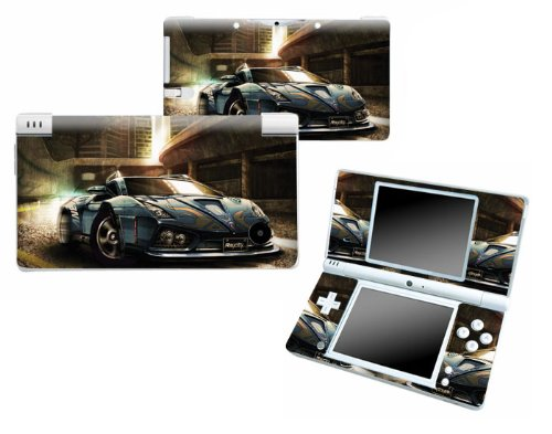 Bundle Monster Nintendo Ndsi Dsi Nds Ds i Vinyl Game Skin Case Art Decal Cover Sticker Protector Accessories - Blue Race Car