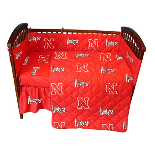 College Covers Nebraska Cornhuskers 5 piece Baby Crib Set