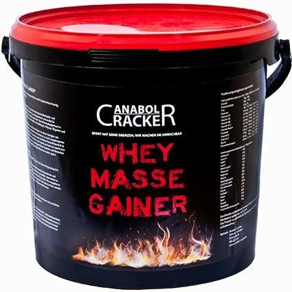 Whey Masse Gainer, Eiweisspulver Proteinshake, 3000g Eimer, Erdbeere, Toffi oder Vanille Geschmack, Sonderangebot (11,65€/Kg)