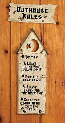 Excellent Outhouse Rules Sign 266 x 500 · 38 kB · jpeg