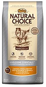 NATURAL CHOICE Wholesome Essentials Young Adult Chicken, Whole Brown Rice and Oatmeal Formula - 15 lbs. (6.81 kg)