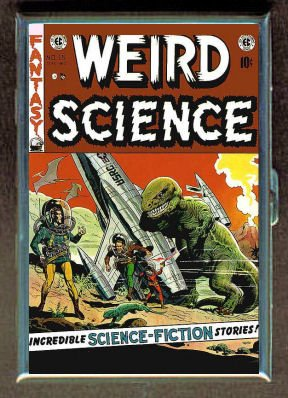 ID CREDIT CARD HOLDER OR CIGARETTE CASE: WEIRD SCIENCE DINOSAUR WALLY WOOD BY PENNY SILVER
