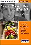 echange, troc Udo Gollub - Sprachenlernen24.de Spanisch für Südamerika-Express-Sprachkurs. CD-ROM für Windows/Linux/Mac OS X + MP3-Audio-CD für Comput