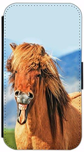 Flip Cover für Apple iPhone 6 / 6S (4,7 Zoll) Design 620 Pferd Braun Hülle aus Kunst-Leder Handytasche Etui Schutzhülle Case Wallet Buchflip mit Bild (620)