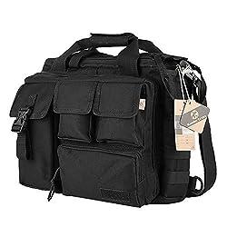 Koolertron Pro- Multifunction Mens Military Tactical Outdoor Nylon Shoulder Messenger Bag Handbags Briefcase Large Enough for 15