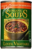 Amy's Organic Soups, Light in Sodium Lentil Vegetable, 14.5 Ounce (Pack of 6)