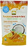 Happy Creamies Organic Veggie and Fruit Snacks with Coconut Milk, (Carrot, Mango and Orange), 1 Ounce (Pack of 8)