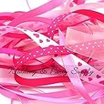 Ribbon off cut bundle - Pink shade -...