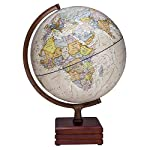 "Handmade Wooden Stand Word Map Antique Decorative Plastic Globe 14"" Inch Globe Handmade Wooden Stand Word Map"