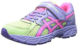 ASICS Pre Contend 3 PS Running Shoe (Little Kid), Pistachio/Hot Pink/Lavender, 12 M US Little Kid