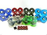 Big Boy 70mm Gel Color Longboard Wheels + ABEC 7 Bearings Spacers