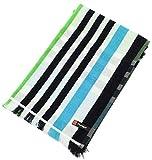ポルト ホワイト&チェック フェイスタオル (縦34×横80cm) ブルー FE700301