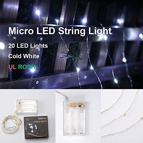 Lidore®Micro 20 Led String Lights. Best Ambiance Lighting For Outdoor And Indoor Party Decoration. 1.Set Of 20 Led Lights 2.Cold White 3.3Aa Battery Operated 4.7 Feet Long 5.Ultra Thin Copper Wire