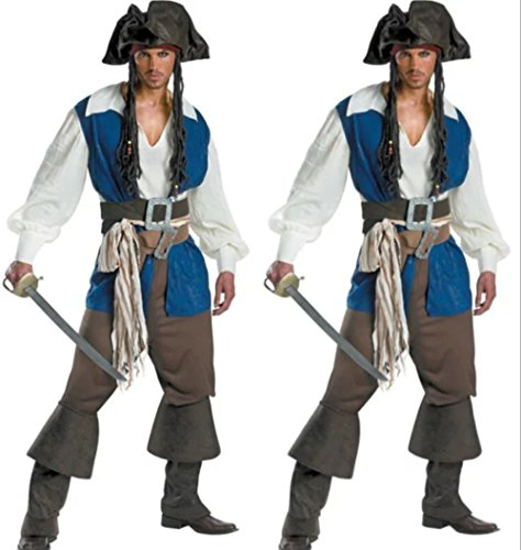 DoLoveY Men's Pirates of the Caribbean Costumes Party Cosplay