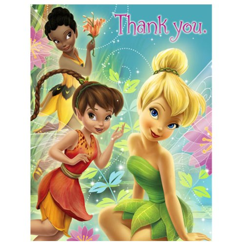 Disney Fairies Thank You Notes Package of 8