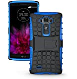 LG G Flex 2 Case - Tough Rugged Dual Layer Protective Case with Kickstand for LG G Flex 2 - Blue