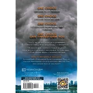 divergent book back cover Divergent Book Cover Back