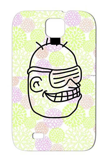 Cool Party Head Scratch-Free Black Music Sunglasses Miscellaneous Dj Funny Headphones Funky Party Face Cool Grin Case Cover For Sumsang Galaxy S4