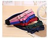 Smile 6 Color Korean Fashion Fabric Bow Hair Bands Hair Clips Hair Accessories