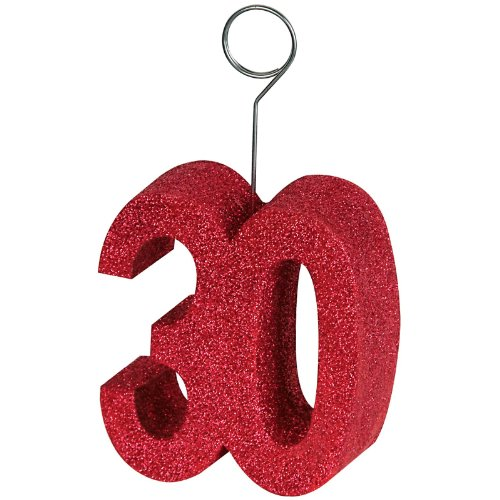 "Beistle 50751-30 Glittered ""30"" Photo Balloon Holder"