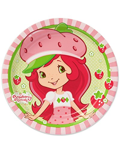 "American Greetings Strawberry Shortcake Round Plate (8 Count), 7"" - 1"