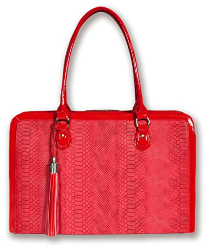 Discount Laptop Bag for Women - Limited Time Only - Factory Error is Big Opportunity for You! - A Version of Our Top Seller BfB Computer Shoulder Bag for Women - at a Bargain Price - RED only