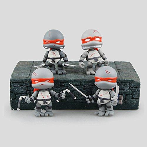 Teenage Mutant Ninja Turtles Q Version Display Figures Pack of 4 (PVC) 3-inches