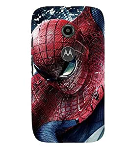 Printvisa Spider Man In Action Back Case Cover for Motorola Moto E2::Motorola Moto E (2nd Gen)