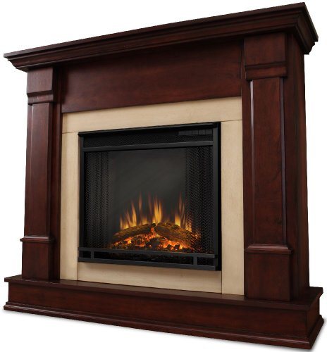 Silverton Electric In Dark Mahogany Real Flame Silverton G8600Ed