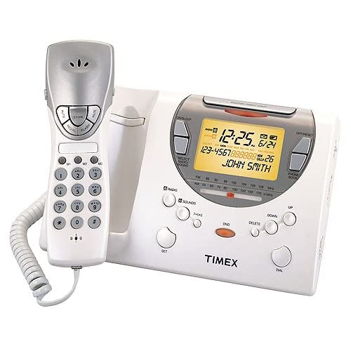 timex talking caller id clock radio telephone t489. Black Bedroom Furniture Sets. Home Design Ideas