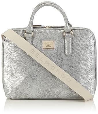 Belmondo 301111AB Damen Umhängetaschen 40x30x11 cm (B x H x T), Silber (argento)