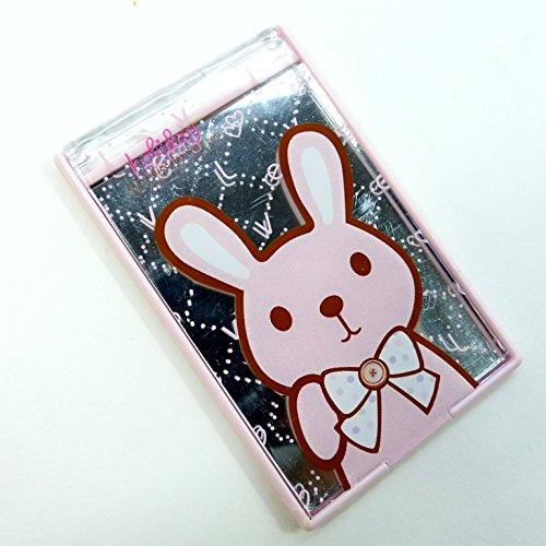 二つ折りファンシーコンパクトミラー ウサギ CMー510
