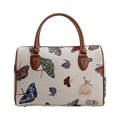 Women's Large Overnight Bag/Weekend Bag/Travel Duffle Bag/Hand-Luggage in Vintage Butterfly Design -- Treat yourself NOW