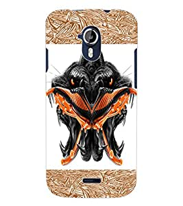 ColourCraft Scary Faces Design Back Case Cover for MICROMAX CANVAS MAGNUS A117