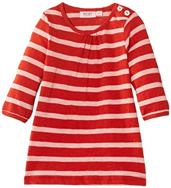 Noa Noa Baby Girls Basic Sailor Striped-03 Dress, Red (Red Clay), 0-3 Months (Manufacturer Size:3 Months)