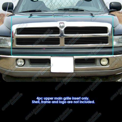 1994-2001 Dodge Ram Black Billet Grille Grill Insert (1998 Dodge Ram 1500 Grill Emblem compare prices)