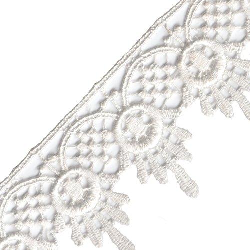 Venus Ribbon Venise Lace, 1-3/4-Inch, White