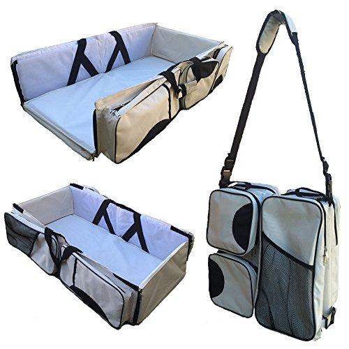 3in1 Baby Diaper Bag Travel Nursery Bassinet Crib Bed