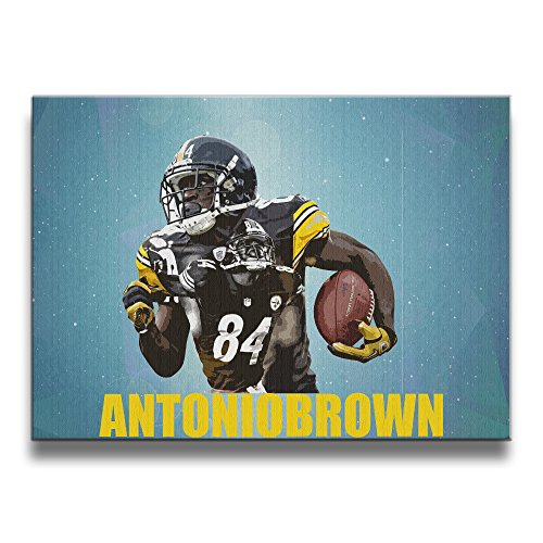 [LALayton Antonio Brown--Pittsburgh Steelers 4 Antonio Brown--Pittsburgh Steelers 4 Frameless Art Pictures Frame Wooden Artwork One] (National Costumes Of Columbia For Men)