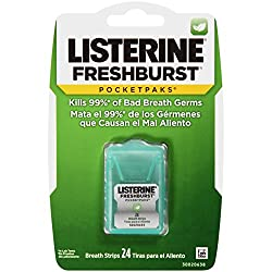 Listerine Fresh Burst Mouth Freshener, Kills Bad Breath Germs-24 Breath Strips