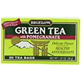 Bigelow Green Tea with Pomegranate 20-Count Boxes (Pack of 6) ~ Bigelow Tea