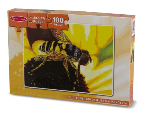 Melissa & Doug Sunflower Snack Jigsaw Puzzle 100 Piece