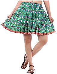 Sunshine Enterprises Women's Cotton Wrap Skirt (Green)