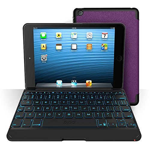 Review Of ZAGG Folio Case for iPad Mini & iPad Mini Retina, Hinged with Backlit Bluetooth Keyboard-P...
