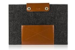 D-park® Leather Wool Felt Case Sleeve Bag For Microsoft Surface RT/Pro 11