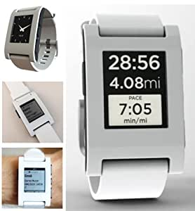Pebble (WHITE) - The e-paper watch for Android and iPhone