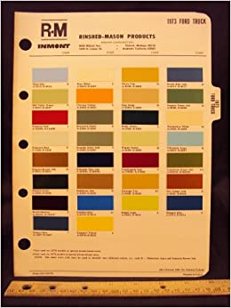 1973 ford truck paint colors chip page ford motor company for Ford motor paint colors