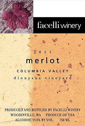2011 Facelli Winery Dionysus Vineyard Merlot 750 Ml