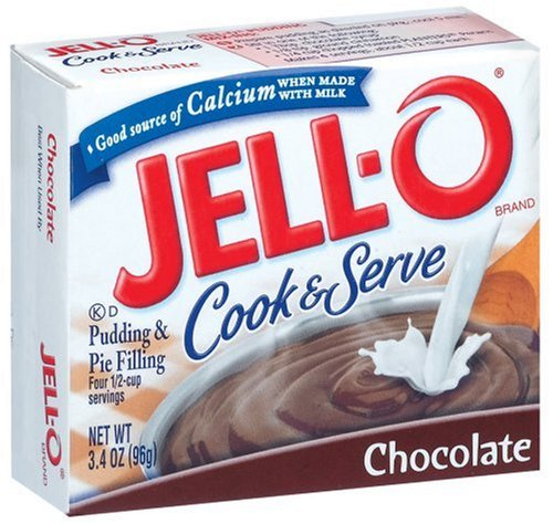 Buy Jell-O Cook & Serve Pudding & Pie Filling, Chocolate, 3.4-Ounce Boxes (Pack of 24) (JELL-O, Health & Personal Care, Products, Food & Snacks, Baking Supplies, Pie & Cobbler Fillings)