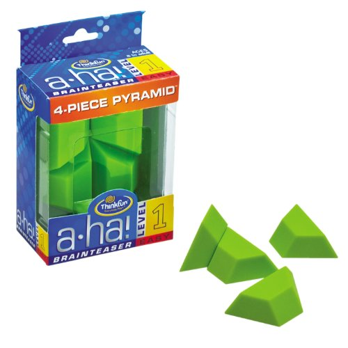 A-ha! 4 Piece Pyramid Brainteasers